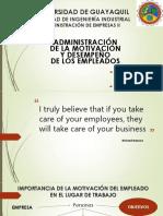 Administración de La Motivacion y Desempeño de Los Empleados