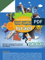 Short and Long Term Israel Programs