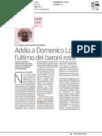 Addio a Domenico Losurdo, l'ultimo dei baroni rossi - La Stampa del 30 giugno 2018