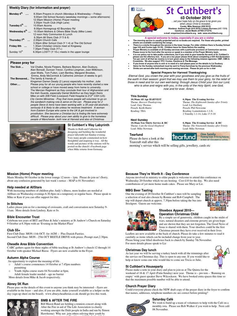 Notice sheet 3 oct 10 trinity prayer solutioingenieria Choice Image