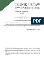 Rozporządzenie Ministra Rozwoju i Finansów z Dnia 29 Grudnia 2016 r. w Sprawie Wzoru Wniosku w Sprawie Kaucji Gwarancyjnej