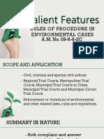 Procedure Environmental Cases
