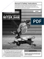 Chicago Electric® 10in. Sliding Compound Miter Saw 61971
