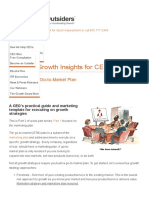 How to Build a Go-To-Market Plan