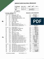 TG 8000 GYRO Checklist