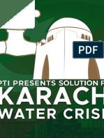 PTI Presents Solution for Water Crisis Karachi