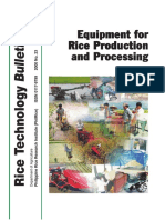 Equipment for Rice Production and Processing