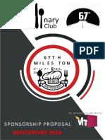 Association proposal for sponsorship