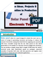 Business Ideas, Projects & Opportunities in Production of Solar Panel & Electronic Toys