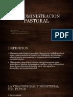 La Administracion Pastoral