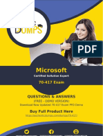 70-417 Dumps PDF - 70-417 Exam Dumps 100% Passing Guarantee