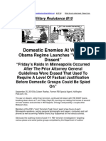 Military Resistance 8I15 Domestic Enemies at Work