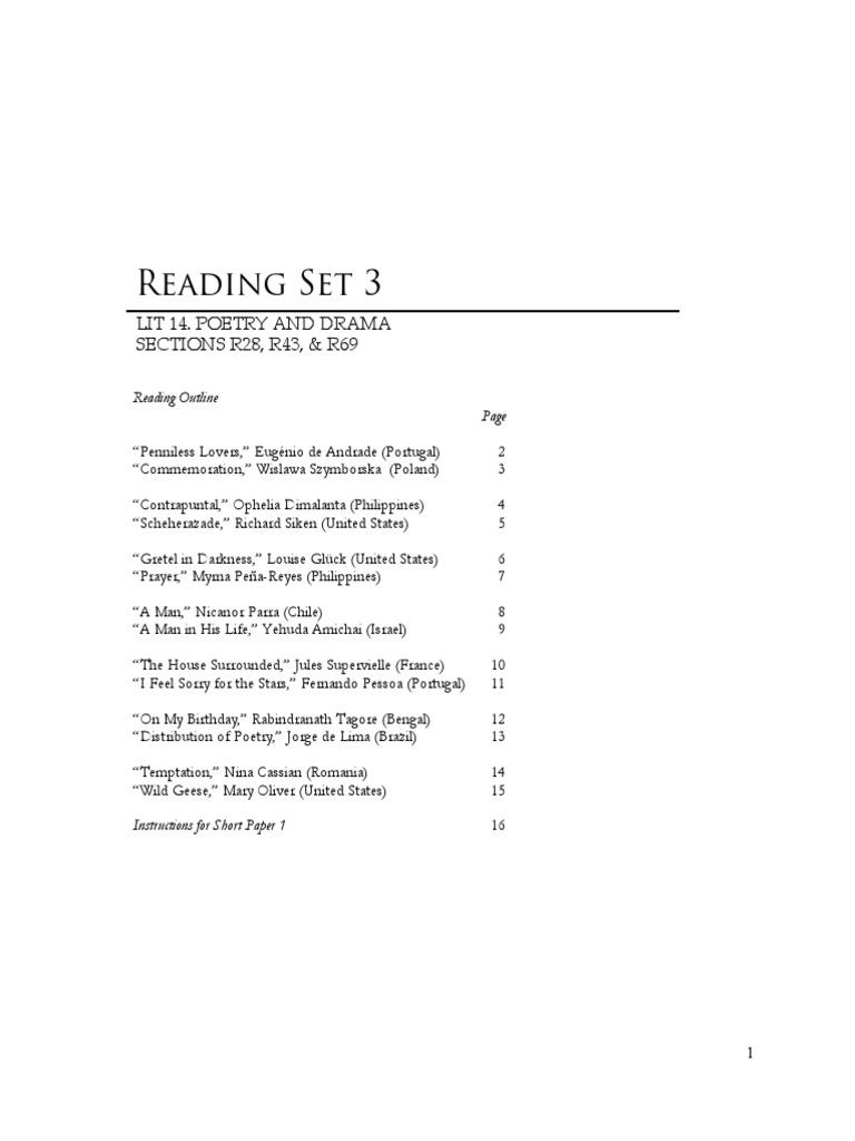 Reading Set 3 Nature