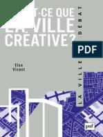 (La Ville en Débat) Elsa Vivant-Qu'est-ce que la ville créative.pdf
