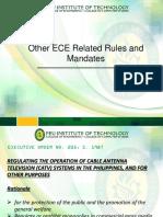 ECE RUles and Mandates