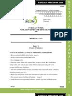 Paper Mathematics PMR Paper 1 Sept 2009