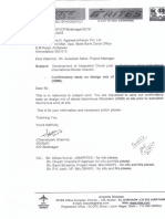 Letter for Confirmatory Test for DBM Work