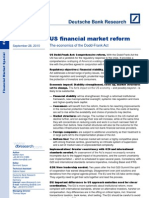 US Financial Market Reform the Economics of the Dodd Frank Act