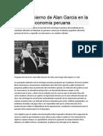 El 1er Gobierno de Alan Garcia en La Economia Peruana