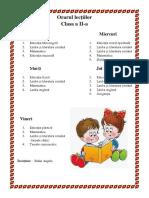 Model Orarul Lecţiilor