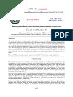 Biosorption of Heavy Metals Using Mushroom Pleurotus Eous