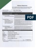 aisha giles referee statement pdf