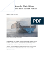 Insurers Brace for Multi Million Dollar Claims From Maersk Honam Fire 03.15.2018