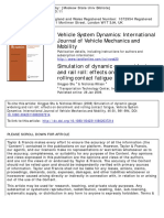 Vehicle System Dynamics Volume 46 issue sup1 2008 [doi 10.1080%2F00423110802037214] Shu, Xinggao; Wilson, Nicholas -- Simulation of dynamic gauge widening and rail roll- effects on derailment and roll.pdf