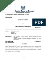 Civil Appeal No 4 of 2018 - Bas-Serco Ltd v the Government of Bermuda