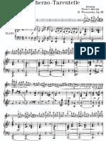 Wieniawski Scherzo Tarantelle Score
