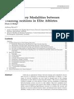 Using Recovery Modalities Between
