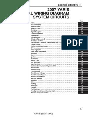 Yaris Electrical Wiring Diagram | Automobile Layouts | Automotive ... toyota 4 pin alternator wiring diagram Scribd