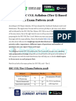 SSC CGL Syllabus Tier I Based on Exam Pattern 2018