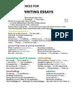 Useful Sentences for Writing Essays