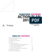 Downtown Kitchener Action Plan 2012-2016
