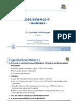 2017 MasterSem Guidelines