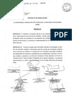 Proyecto de resolución - Repudio a Schiaretti