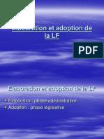Élaboratio Et Adoption de La Loi Des Finances