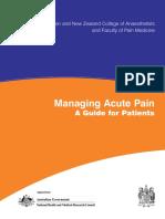 Managing Acute Pain