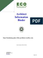 Architect Information Binder www.Ecoglass.ca Eco Insulating Glass Inc.