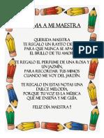 Poesia-Poema a Mi Maestra - InICIAL