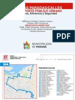 Paradas de colectivos en Paraná - Julio 2018