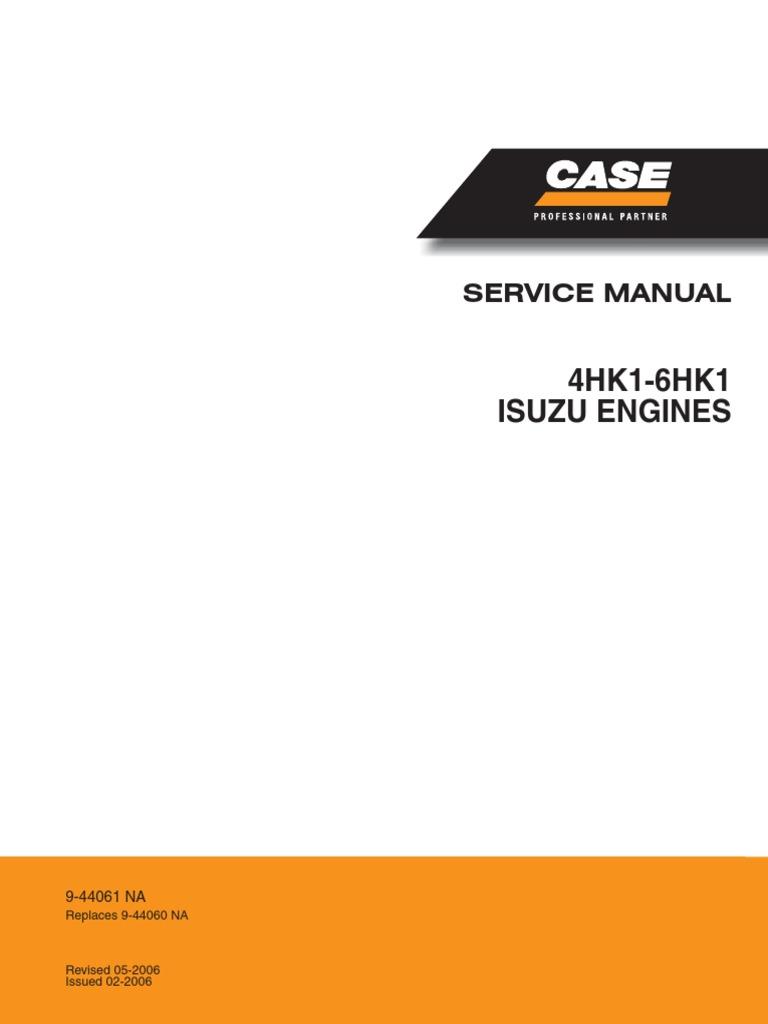 4hk1 6hk1 Isuzo Engine Cx350 Service Manual 9 44061na Linked Pdf Isuzu Diagram Screw Machines