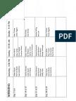 Servers Schedule - July 2018