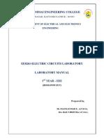 EE8261-Electric Circuits Lab Manual-EEE