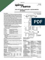 Valvole Per Scarico Di Fondo DFG300 Manuali o Con Attuatore Pneumatico