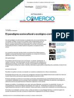 El Paradigma Sociocultural o Ecológico-contextual _ El Comercio