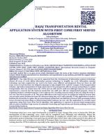 DESIGN OF BAJAJ TRANSPORTATION RENTAL APPLICATION SYSTEM WITH FIRST COME FIRST SERVED ALGORITHM
