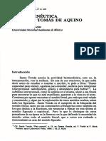 Beuchot Puente, Mauricio - La Hermeneutica Den Santo Tomas de Aquino