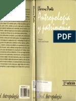 Llorenc Prats. Antropología y Patrimonio.